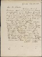 Stephen Allen to John Johnston, July 26, 1842