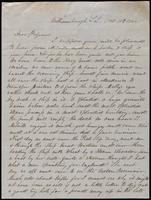 B.H. Loomis to John Johnston, October 10, 1851