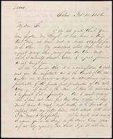 Wm C Percoh to John Johnston, February 11, 1856