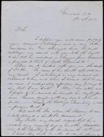 A.H. Harp to John Johnston, October 15, 1851