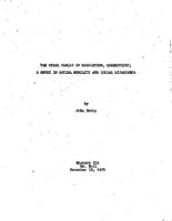 The Starr family of Middletown, Connecticut; a study in social mobility and social experience