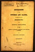 Catalogue of the Officers and Cadets: Together with the Prospectus and Internal Regulations of the American Literary, Scientific and Military Academy, at Middletown, Connecticut