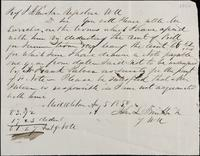 Note to John Johnston as registrar, August 5, 1850