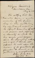John Johnston letter of recommendation for student, May 14, 1838