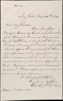 Invitation to John Johnston from Charles R. North, February 16, 1869