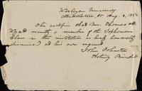 Item 007 - Student honorably dismissed, August 8, 1850