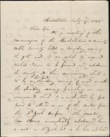 Item 004 - John Johnston to Stephen Olin, July 17, 1845