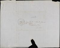 John Johnston, 2 autograph notes, October 26, 1847 and November 1, 1847 on same 4to leaf, cover addressed to Third Assistant Post Master General, Washington.