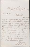 Item 002 - Letters of introduction from W. S. Smyth to Dr. Cummings, June 30, 1869