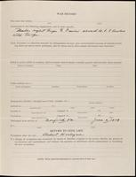 World War I service record for Lyndon Travis Abbot, p. 3