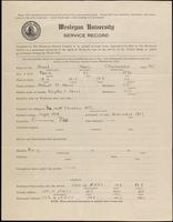 World War I service record for Alan Chichester Abeel, p. 1