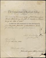 Record of donation to the Harvard College Library