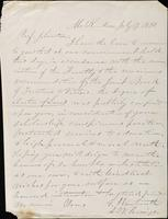 E. Wentworth to John Johnston, July 19, 1850