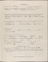 World War I service record for Alan Chichester Abeel, p. 3