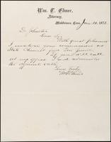 William T. Elmer to John Johnston, January 10, 1872