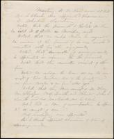 Penciled Trustee minutes on funeral arrangements of Stephen Olin, August 18, 1851