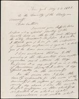 N. Bangs to the Faculty of Wesleyan University, May 23, 1842