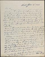 Geo. Puck to John Johnston, September 14, 1843