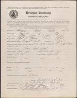 World War I service record for Horace Mills Abrams, p. 1