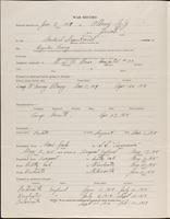 World War I service record for Horace Mills Abrams, p. 2