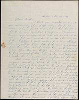 Edmund E.E. Bragdon to John Johnston, November 30, 1843