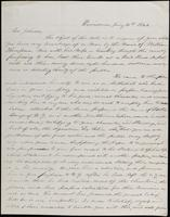 Isaac S. House to John Johnston, January 31, 1844
