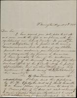 B. Van Kirk to John Johnston, August 5, 1850