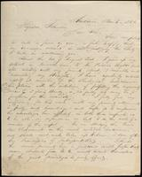 J. Augustis Adams to John Johnston, November 6, 1844