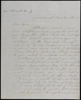 M.J. Tallas to John Johnston, January 7, 1852