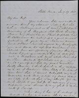 Joseph Holdrick to John Johnston, January 17, 1850