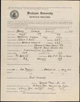 World War I service record for Clarence Everett Bacon, p. 1