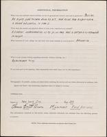 World War I service record for Clarence Everett Bacon, p. 4