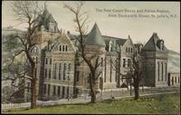 The New Court House and Police Station, from Duckworth Street, St. John's, N.F.