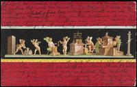 Cherubs working as metalsmiths and goldsmiths, fresco from the Casa dei Vettii, Pompeii, Italy