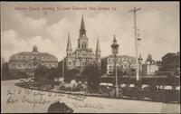Jackson Square, showing St. Louis Cathedral, New Orleans, La.