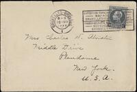 Envelope addressed to Mrs. Charles W. Atwater (front)