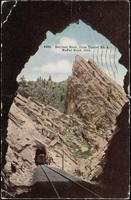 8486. Sentinel Rock, from Tunnel no. 4, Moffat Road. Colo.