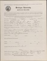01.005.008 World War I Service Record for Ralph Oliver Collins