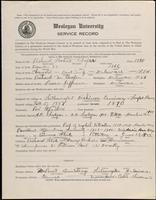 01.005.019 World War I Service Record for Richard Watson Cooper
