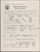 World War I service record for William David Anderson, p. 1