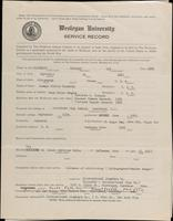 01.005.013 World War I Service Record for Herbert Lee Connelly
