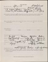 World War I service record for William David Anderson, p. 3