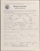 World War I Service Record for Frederick North Crawford, p. 1