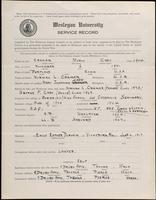 01.005.022 World War I Service Record for Myron Cady Cramer