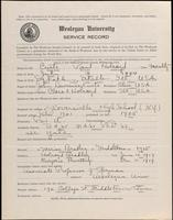 01.005.028 World War I Service Record for Paul Holroyd Curtis