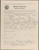 World War I Service Record for Frederick Morgan Davenport Jr., p. 1