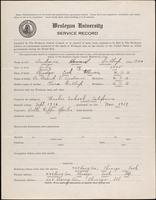 01.001.019 World War I service record for Howard Gallup Andrews