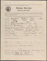 World War I Service Record for Arthur Kent Dearborn, p. 1
