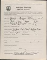 01.007.004 World War I Service Record for Maurice Millett Edwards