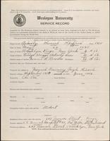 World War I service record for Samuel Spofford Ackerly, p. 1
